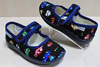 Тапочки в садик на мальчика, текстильная обувь Vitaliya Виталия Украина, размер с 23 по 27