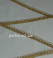 """Золотая тесьма """"полукольца""""металлизированная, ширина 1.3см (1 уп-18м=20 ярдов)"""