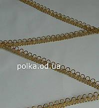 """Золота тасьма """"півкільця""""металізована, ширина 1.3 см (1 уп-18м=20 ярдів)"""