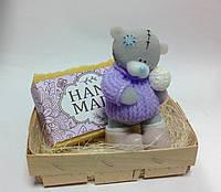 Мыльный набор Тедди со снежком и натуральное мыло