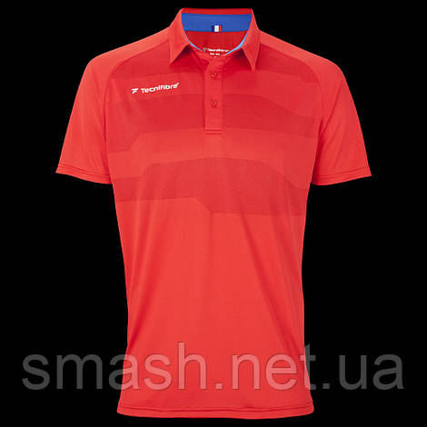 Футболка Tecnifibre Men's F3 Ventstripe Polo red