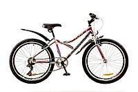 """Велосипед 24"""" DISCOVERY FLINT 2017 (бело-сине-розовый)"""