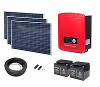 Гибридная солнечная электростанция EnerGenie HE3000; мощность 3000Вт