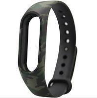Силиконовый ремешок для фитнес-браслета Xiaomi Mi Band 2 - Green Camouflage