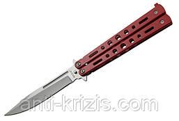 Нож балисонг 15084 W (red)+подарок+документ что не ХО!