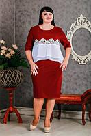 Женское платье больших размеров Дигити  размеров  52, 54, 56, 58 оптом
