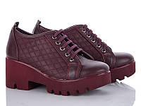 Демисезонная обувь. Женские ботильоны на шнуровке оптом от производителя Cinar TP-7 (8пар 36-40)
