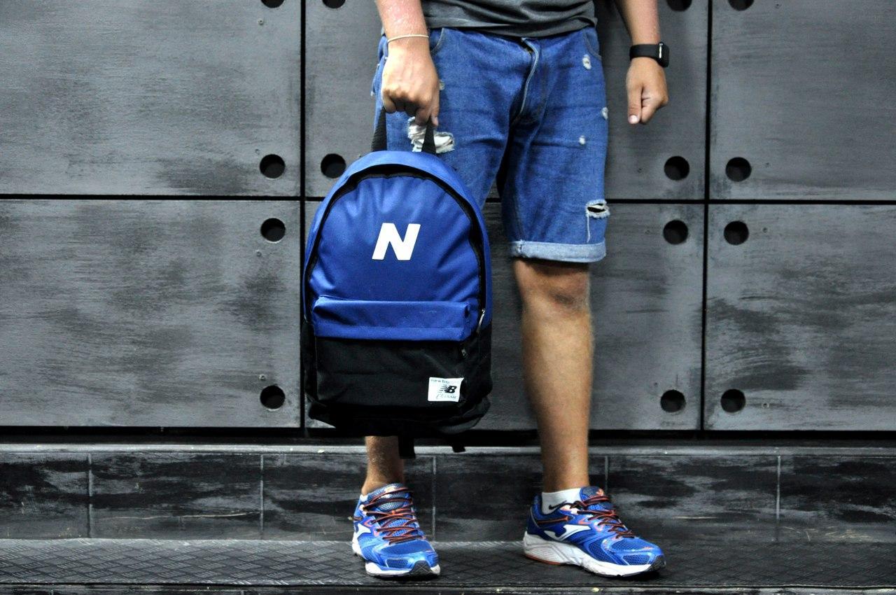 Рюкзак Нью Баланс, New Balance, синий верх черный низ (Реплика ... cde1ec70f8b
