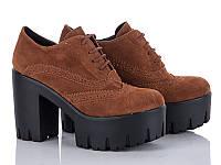 Демисезонная обувь. Женские ботильоны на шнуровке оптом от производителя Cinar TP-17 (8пар 36-40)