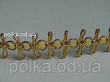 """Золотая декоративная тесьма """"бабочка"""", ширина 1.8 см(1 упаковка -20ярдов)"""