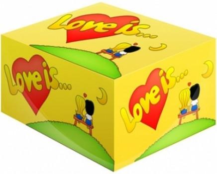 Блок жвачек Love is... Кокос-Ананас 100 шт