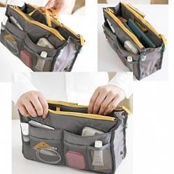 Органайзер Bag in bag maxi сумка в сумке дорожный серый