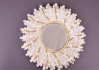 Зеркало оригинальное дизайнерское интерьерное Бархат 39см / зеркало для дома настенное