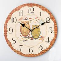 """Интерьерные настенные часы """"Совушки"""" 35 см."""