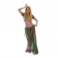 Карнавальный костюм Восточный зелёный взрослый для женщин