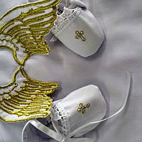 """Именной крестильный набор """"Ангел"""" 3-d объемные крылья"""