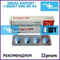 Виагра    SUHAGRA 100 мг   Силденафил   4 таб