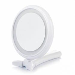 Косметическое зеркало настольное на подставке 14 см / зеркало для макияжа
