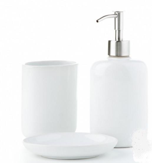 Керамический набор для ванной Classic дозатор для мыла мыльница