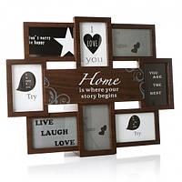 Фотоколлаж рамка для фотографий фоторамка Home is where your story begins на 11 фото