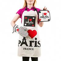 Набор для Кухни Paris рукавичка, фартук, прихватка