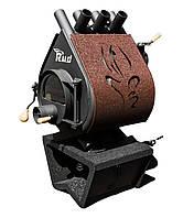 Отопительная конвекционная печь  c обшивкой декоративной и подставкой Pyrotron Кантри 00 Rud