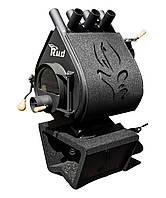 Отопительная конвекционная печь с  декоративной накладкой и подставкой  Pyrotron Кантри 01 Rud