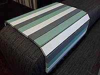 Деревянная накладка-столик на подлокотник дивана(зеленый/белый/серый) #2i2ua