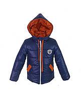 Детская курточка для мальчика с капюшоном