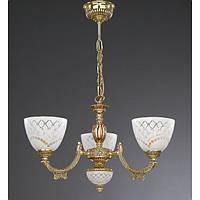 Люстра RECCAGNI ANGELO L 7152/3 золото/стекло/белый