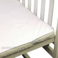Махровый водонепроницаемый наматрасник для детской кроватки Руно Люкс 60х120 см