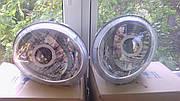 Комплект передних фар с биксеноновыми линзами с ангельскими глазами на Daewoo Matiz (Матиз)