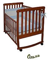Кроватка для новорожденных с качалкой Ольха Верес ЛД12, фото 1
