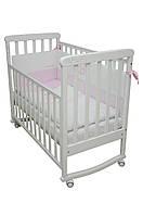 Кроватка для новорожденных Белая с качалкой Верес ЛД12