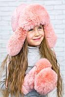 Зимняя меховая шапка ушанка из натурального меха