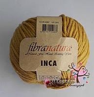 Пряжа Инка Фибранатура Inca Fibranatura, 43007, горчичный