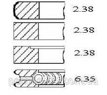 41158044 Кольца поршневые для двигателя Perkins 4.212