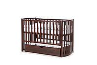 Кроватка детская деревянная Орех