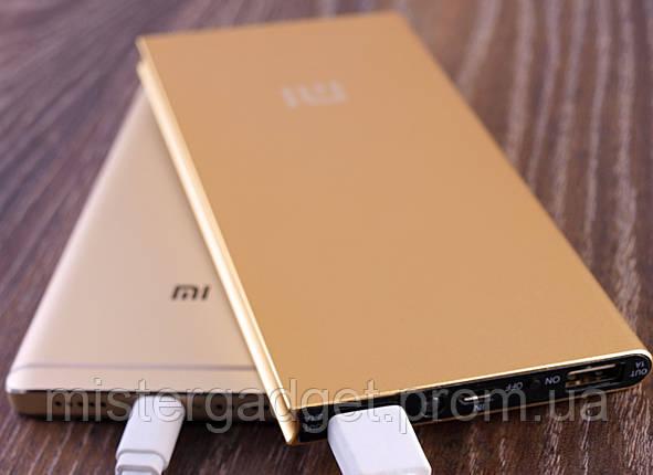 Mi10 Внешний аккумулятор PowerBank 20000mA копия Xiaomi Золото, фото 2