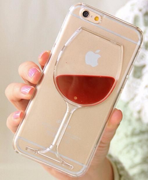 Уникальный чехол бампер для iPhone 6 6S бокал вина