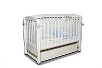 Кроватка детская Белая с ящиком ЛД -16