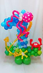Морская единичка из воздушных шаров