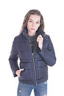 Красивая женская осенняя куртка размер плюс Лаура т.синий (42-52)