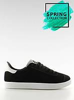 Черные замшевые женские кроссовки bk6180-1 40,39,38,37,36