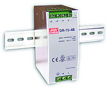 DR-75-48 Блок питания Mean well 76.8 вт, 48в, 1,6А на Din-рейку