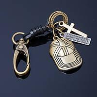 Брелок мужской бронза Кепка L-14см