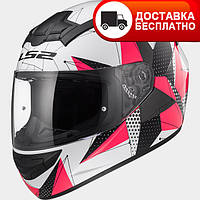 Мотошлем LS2 FF352 Rookie Brilliant White/Pink