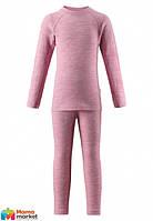Комплект термобелья шерстяной  для девочки Reima Kinsei 536184, цвет 4320