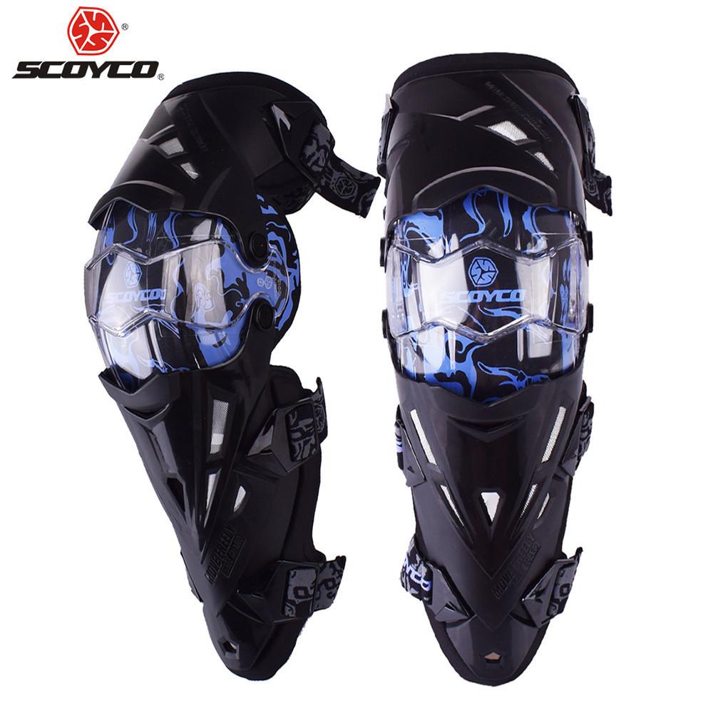Мотонаколенники Scoyco K12 Blue