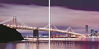 Картины на стекле Мост 80*40 см